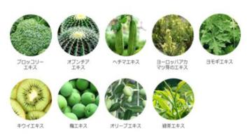 グリーンコンプレックス<br> 抗酸化、抗老化効果